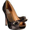 Badgley Mischka - Black Lace Beaded Pump - Klassische Schuhe -