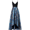 Badgley Mischka Blue Floral Gown - sukienki -