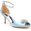 Badgley Mischka Satin Peep-Toe Sandals - Sandals - $231.00
