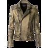 Balmain Tie And Dye Biker Leather Jacket - Jacket - coats -