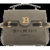 Balmain Dark green canvas B-Buzz 23 bag - Torebki - £1.39  ~ 1.57€