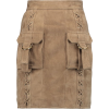 Balmain - Suede mini skirt - スカート -