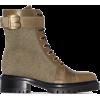 Balmain multi-panel lace-up boots - Čizme -