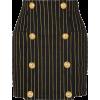 Balmain striped black denim mini skirt - Gonne - $1,250.00  ~ 1,073.61€