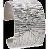 Bark Print Bracelet Bracelets Silver - Zapestnice -