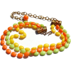Bead Choker lemon orange lime - Collane - $12.00  ~ 10.31€