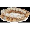Bead + Ribbon Multi-Wrap Bracelet - Braccioletti -