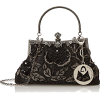 Beaded and Sequined Evening Bag - Torby z klamrą -