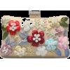 Beaded and Sequined Evening Bag - Bolsas com uma fivela -