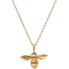 Bee Pendant Necklace - Collares -