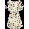 Beige Batwing Short Sleeve  - Dresses -
