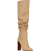 Beige. Brown. Boots - Botas -