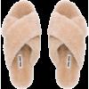 Beige. Fluffy - Flats -