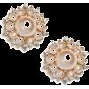 Beige. Pearl - Earrings -