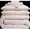 Beige. Pillow. Blanket - Furniture -