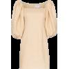 Beige Puffed Sleeved Dress - Vestiti -