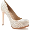 Beige Striped Heel - Classic shoes & Pumps -