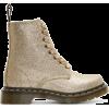 Beige gold glitter - Boots -