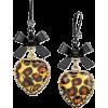 Betsey Johnson Leopard Heart - Orecchine -