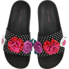 Betsy Johnson Floral Polka Dot Slides - Sandale -