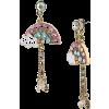 Betsy Johnson Rainbow Dangle Earrings - Earrings -