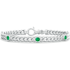 Emerald Chain Link Bracelet - Bracelets - $679.00