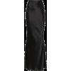 Bias Cut Flared Long Silk Skirt - Skirts -