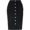 Biba black skirt with white buttons - Skirts -