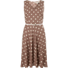 Billie & Blossom Taupe Spot Print Dress - Dresses - $59.00