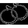 Black Bead Earrings - Ohrringe -