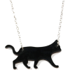 Black Cat Necklace - Ogrlice - $11.38  ~ 72,29kn