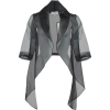 Black Chiffon Jacket - Bolero -