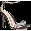 Black Crystal 115 Suede Sandal - Sandals -