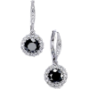 Black Crystal Earrings - Orecchine -