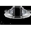 Black Diamond Engagement Ring - Rings -