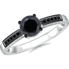 Black Diamond Engagement Ring - Rings - $839.00