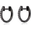 Black Gold And Diamond Hoops $692.84 - Orecchine -