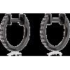 Black Gold And Diamond Hoops $692.84 - Kolczyki -