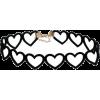 Black Heart choker  - Necklaces - $7.11