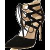 Black High Heel Bandage Point  - Туфли на платформе -
