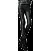 Black Leather Pants - Leggings -