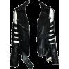 Black Leather Slit Arm Jacket - Jacket - coats -