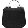 Black Maple Mini Leather Bag - Hand bag -