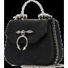 Black Maple Mini Leather Bag - Hand bag -