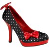 Black Polka Dot Satin With Red Patent Pumps - 5 - Schuhe - $45.90  ~ 39.42€