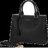 Black Satchel Handbag - ハンドバッグ -