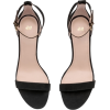 Black Suede Sandals - Sandals -