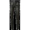 Black Leather Jean - Jeans -