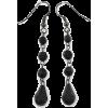 Black Acrylic Bead Drop Earrings - イヤリング - £3.50  ~ ¥518
