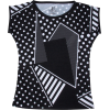 Black And White Polka Dots Geo Print Sli - Majice - duge - $46.00  ~ 292,22kn